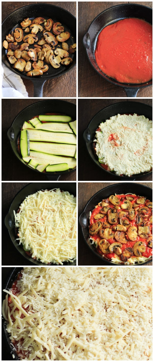 Low-carb Zucchini Lasagna Skillet Primavera Kitchen Recipe