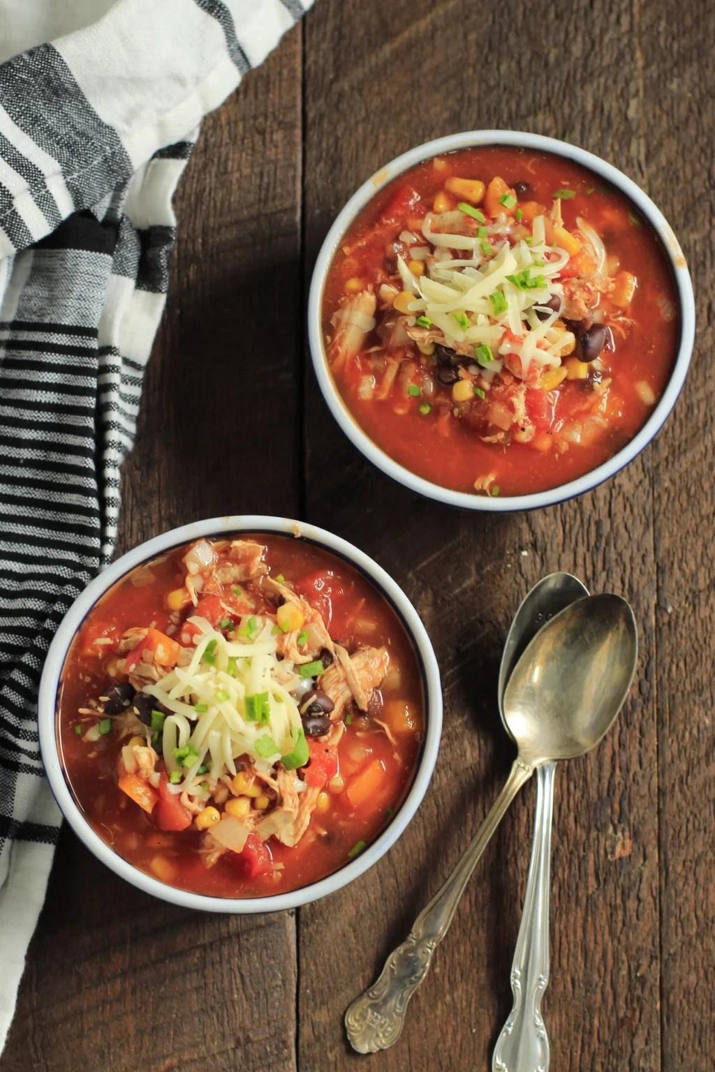 Ultra-easy Slow Cooker Chicken Chili Primavera Kitchen Recipe