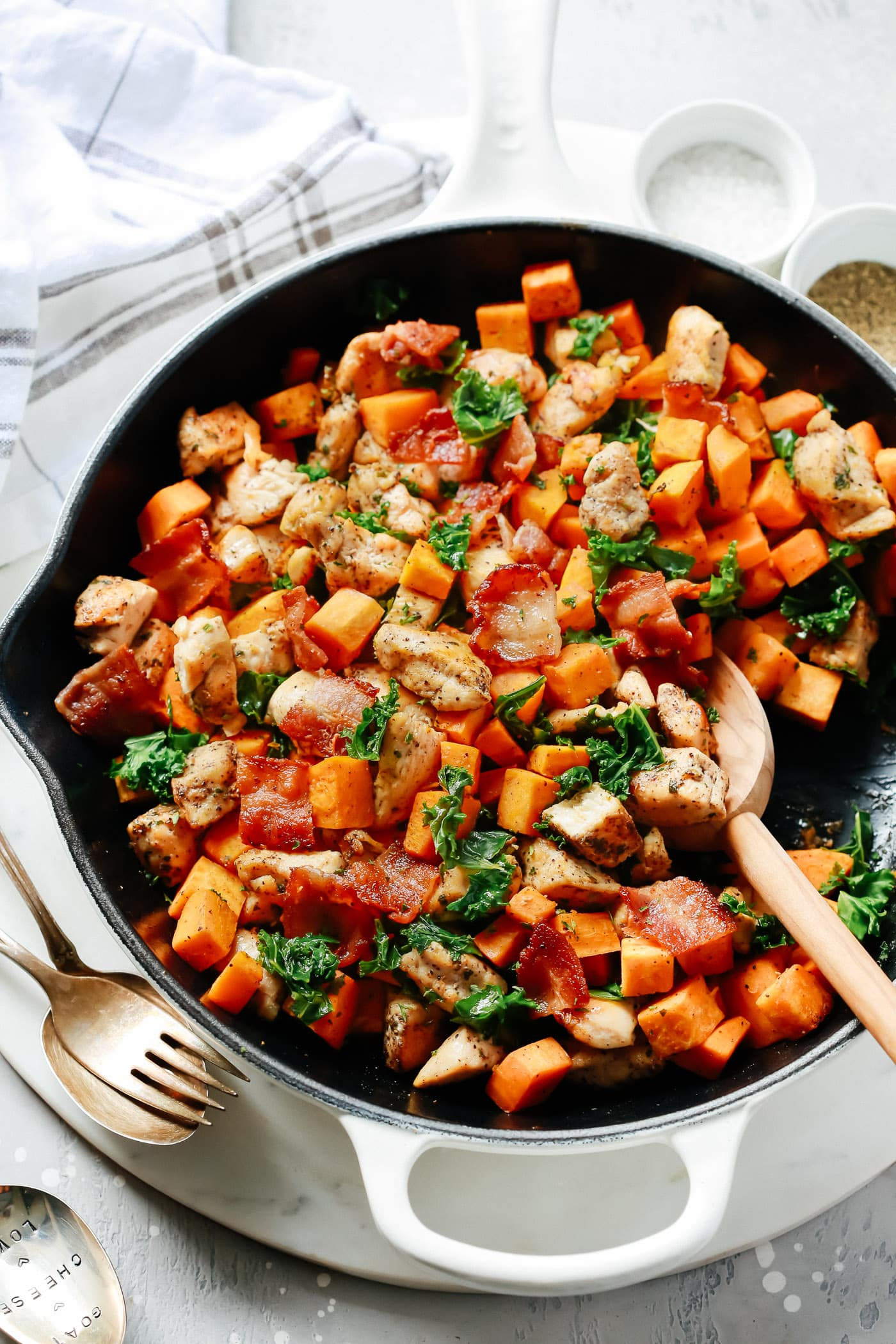 Sweet Potato Chicken Kale Skillet.
