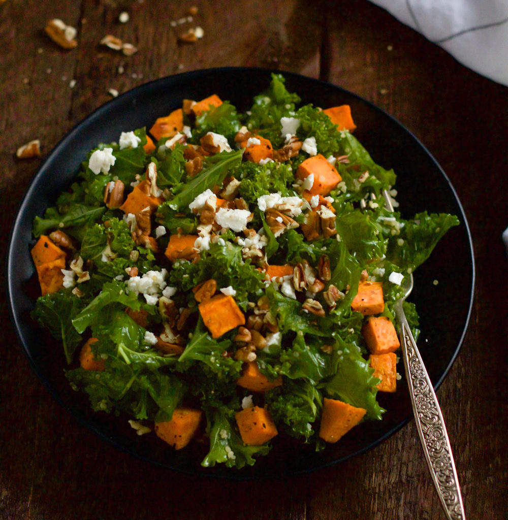Roasted Sweet Potato Kale Salad Primavera Kitchen Recipe