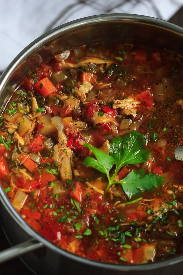 Chicken Vegetable Soup Primavera Kitchen Recipe