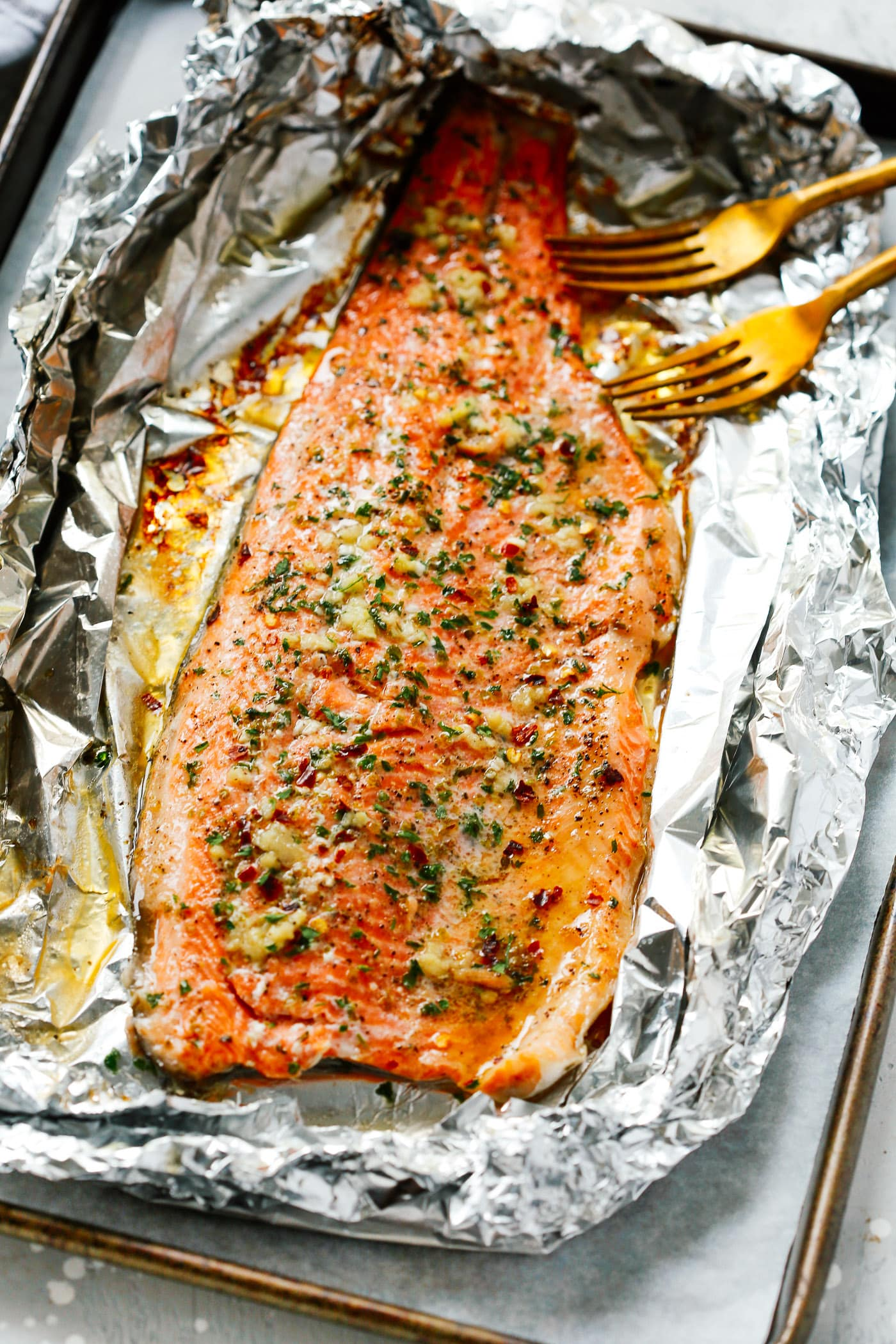 Garlic Butter Trout