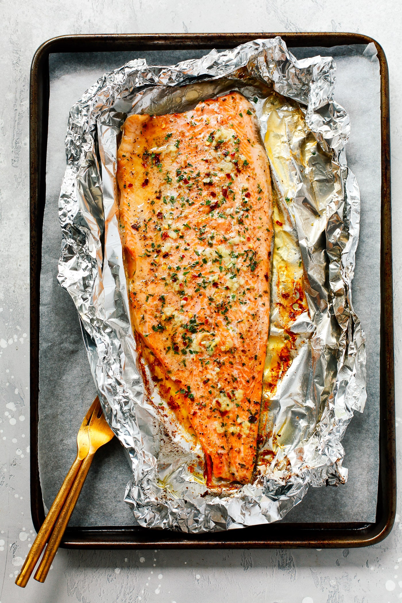 Garlic Butter Trout In Foil Only 4 Ingredients Super Flavorful