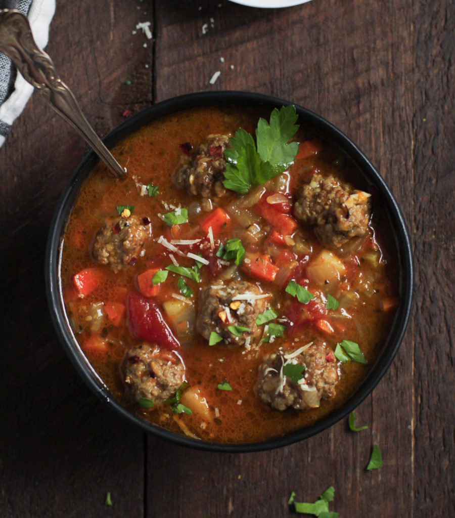 Healthy Meatball Vegetable Soup Primavera Kitchen Recipe