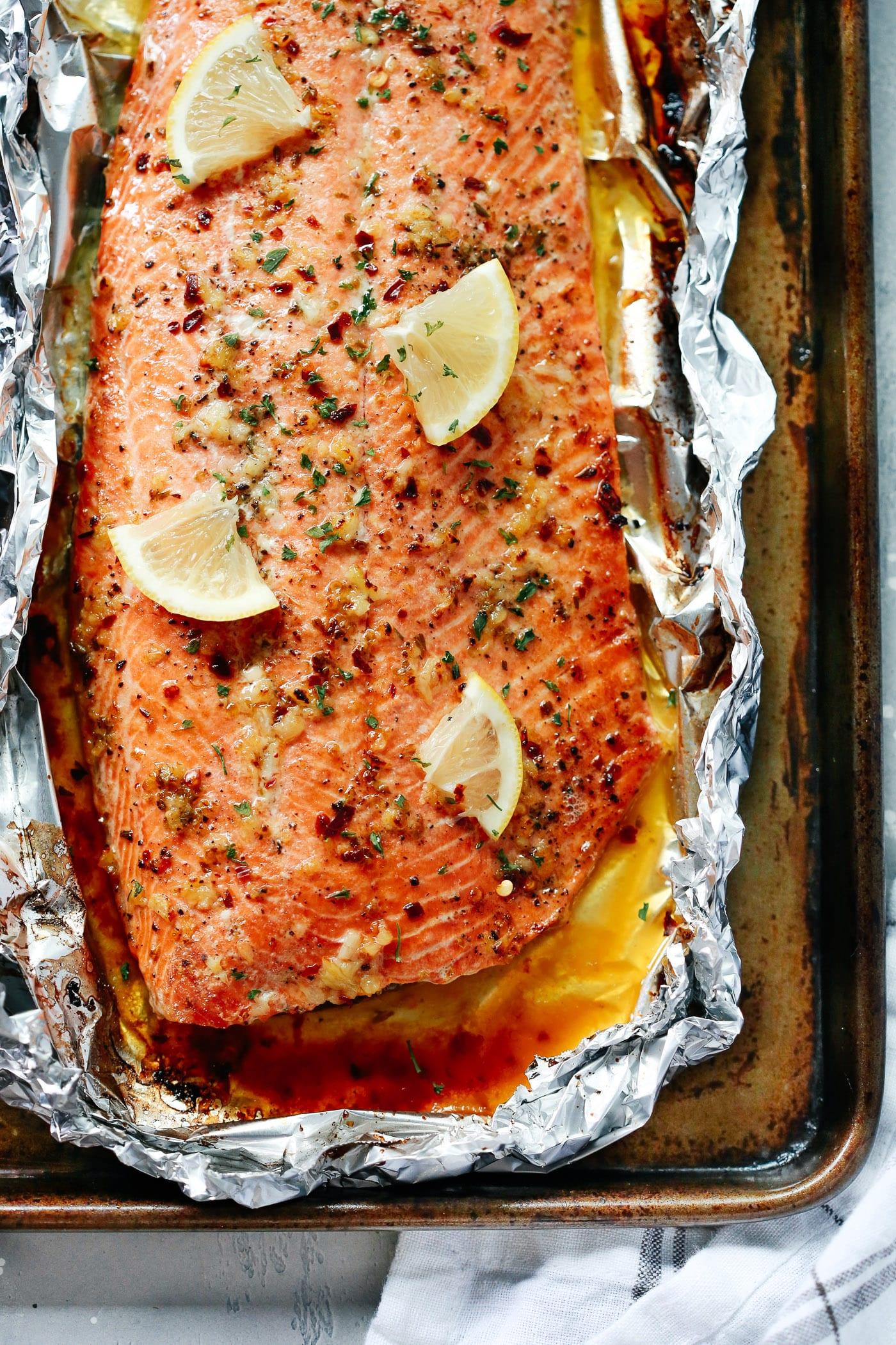 Simple Garlic Butter Salmon Recipe - Primavera Kitchen