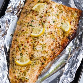 Garlic Butter Salmon in Foil Primavera Kitchen Recipe