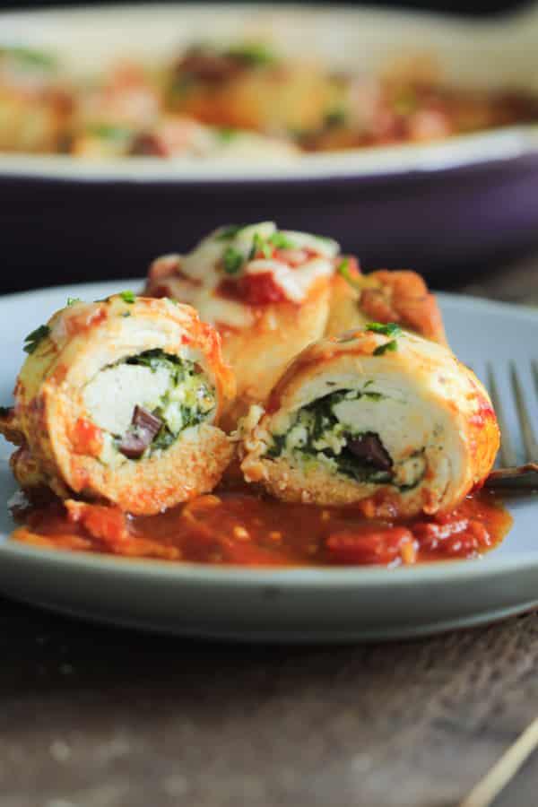 Spinach and Feta Stuffed Chicken Breasts Primavera Kitchen Recipe
