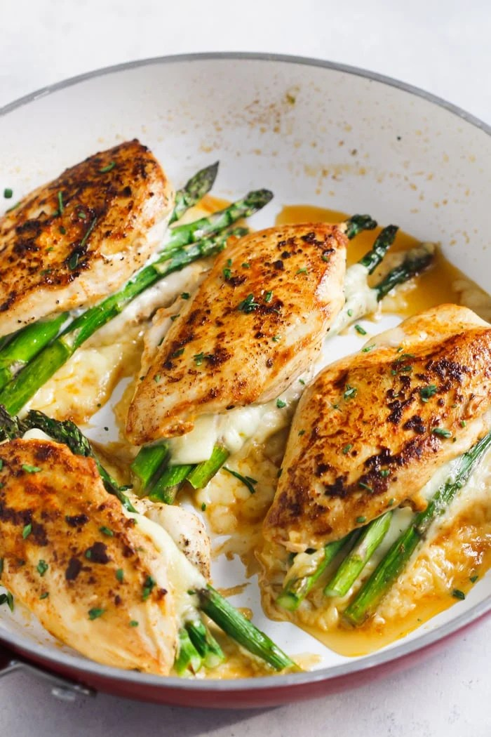 Asparagus Stuffed Chicken Breast Delicious One Pan Dinner