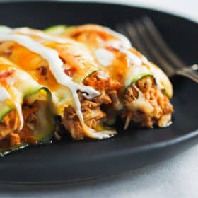 Low Card Chicken Zucchini Enchiladas Primavera Kitchen Recipe