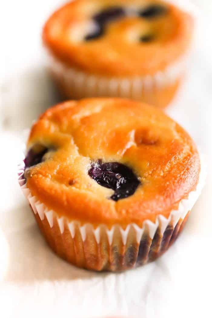 Low-carb Lemon Blueberry Blender Muffins Primavera Kitchen Recipe