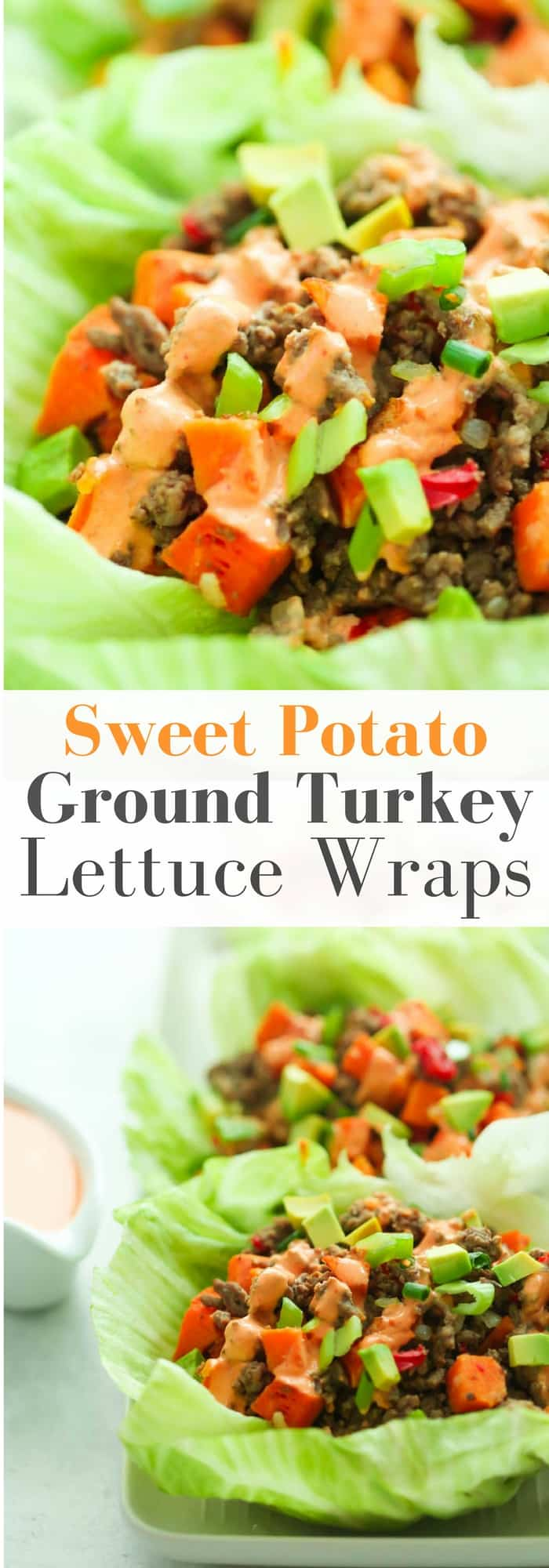 Ground Turkey Sweet Potato Lettuce Wraps - Fresh and flavourful, these Ground Turkey Sweet Potato Lettuce Wraps can easily be prepared in just 20 minutes. It's a perfect gluten-free and low-carb summer lunch or dinner.