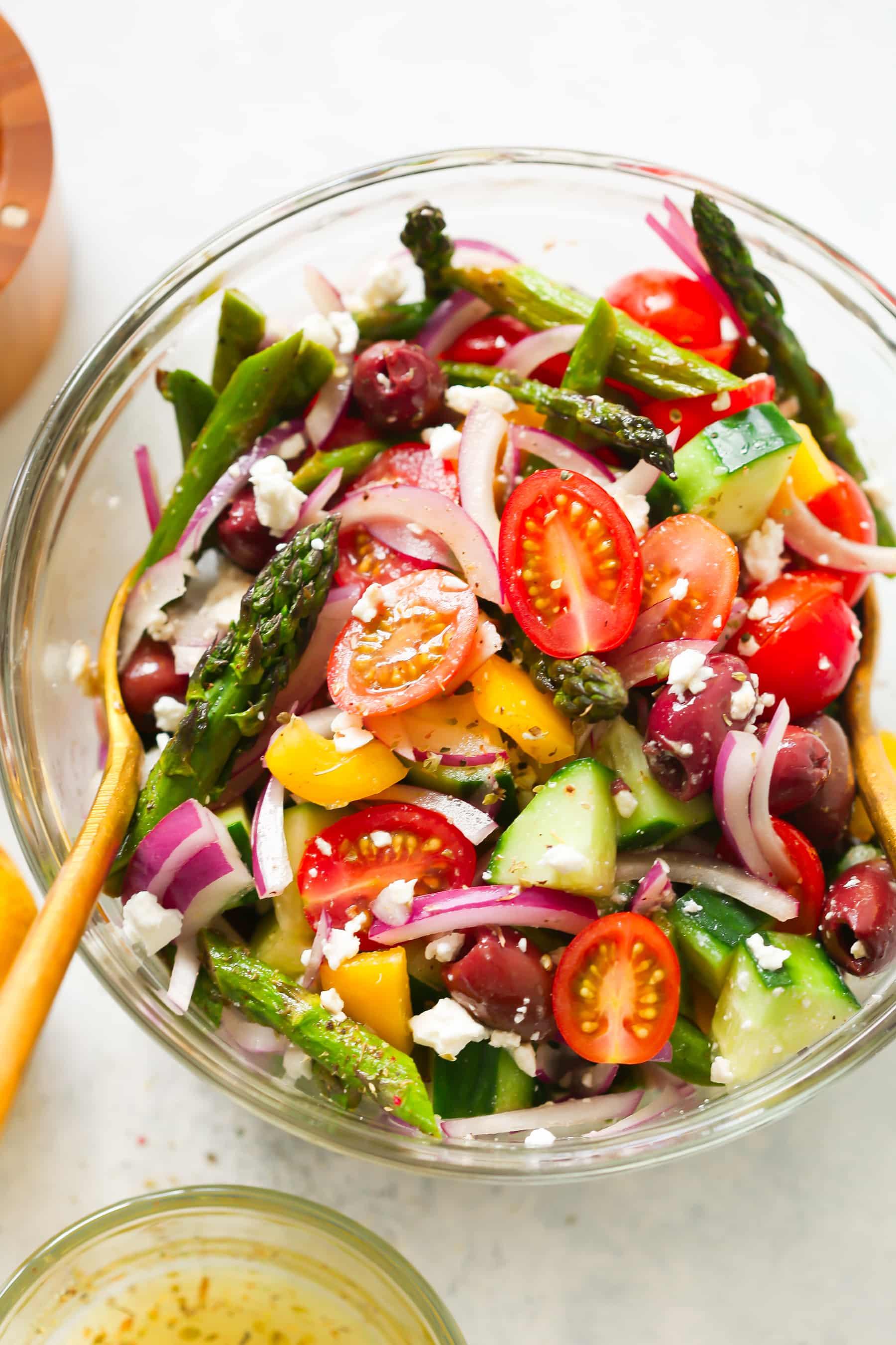 Asparagus Greek Chopped Salad.