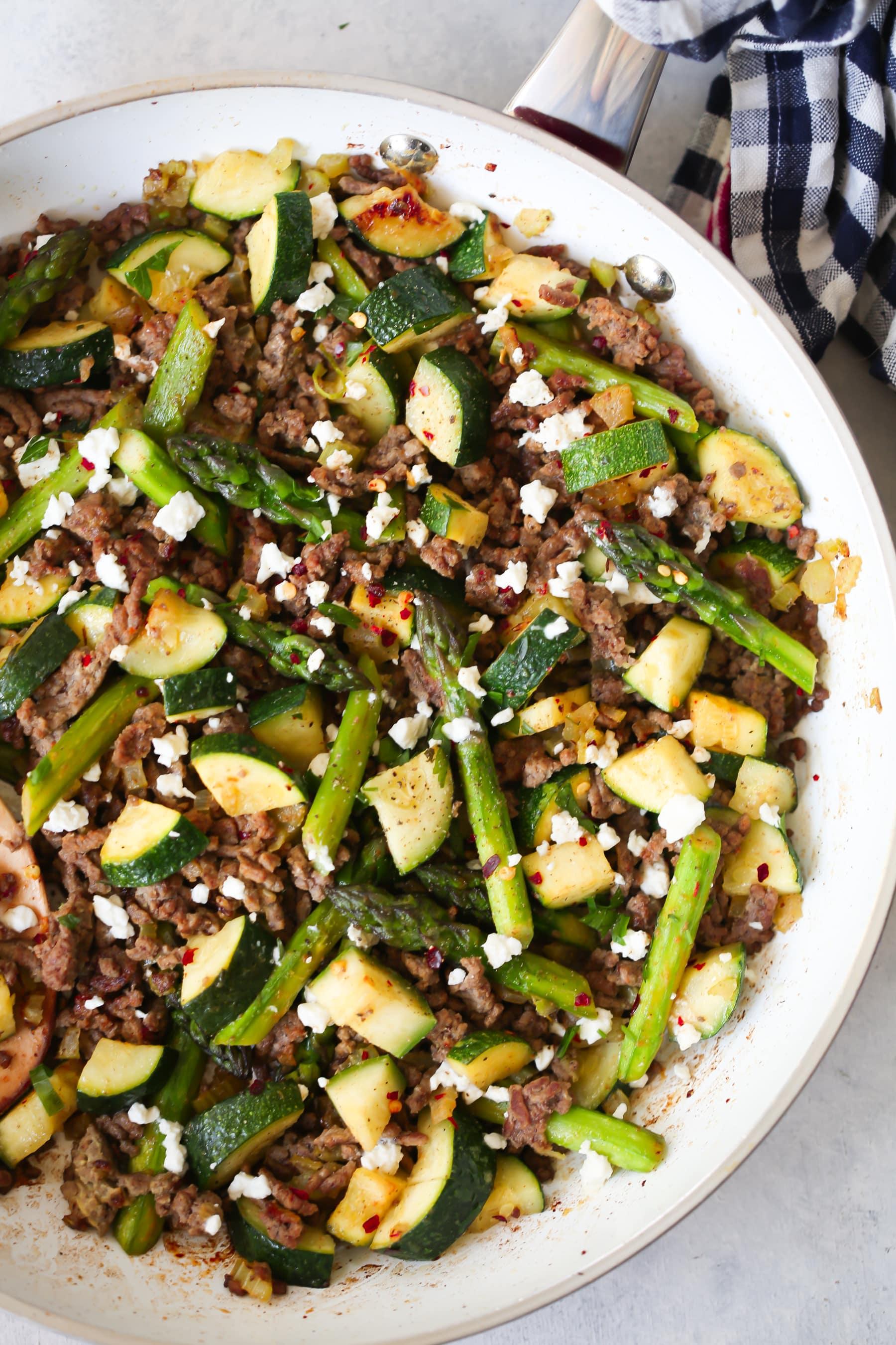 Ground Beef Veggie Skillet Recipe.