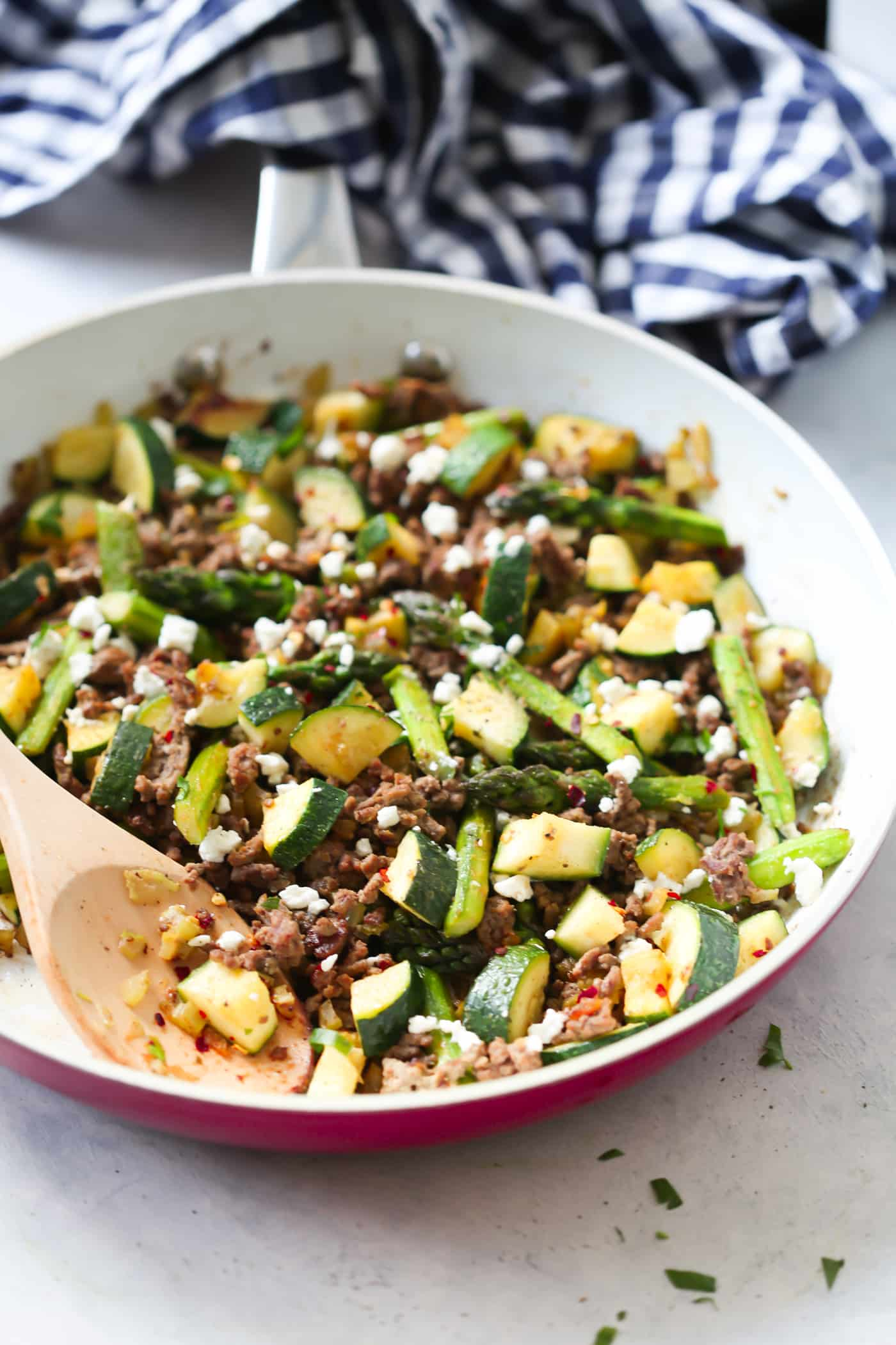 Ground Beef Veggie Skillet Primavera Kitchen Recipe