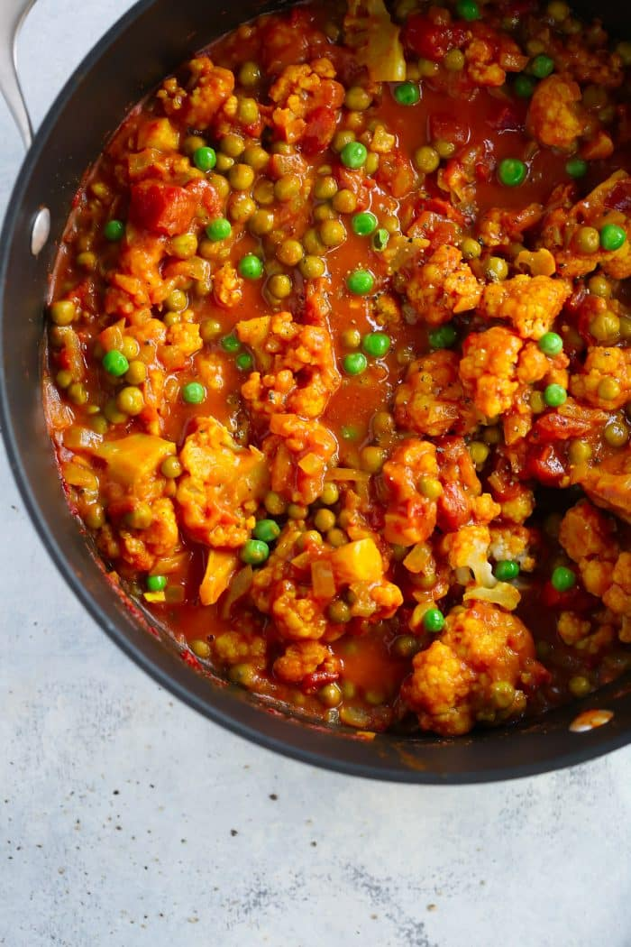 Easy One-Pan Cauliflower Curry Primavera Kitchen Recipe