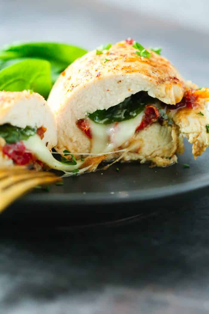 Sun-Dried Tomato, Spinach and Cheese Stuffed Chicken Primavera Kitchen recipe