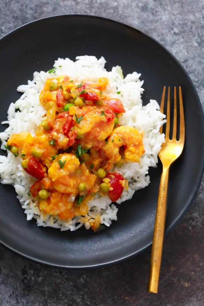 One-pan Coconut Shrimp Curry Primavera Kitchen Recipe