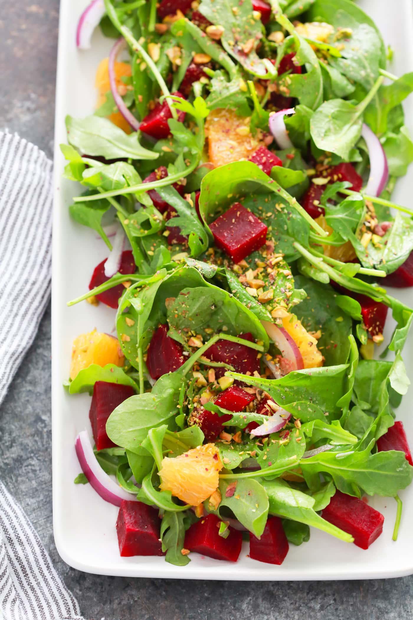 Autumn Beet Orange Salad Recipe.