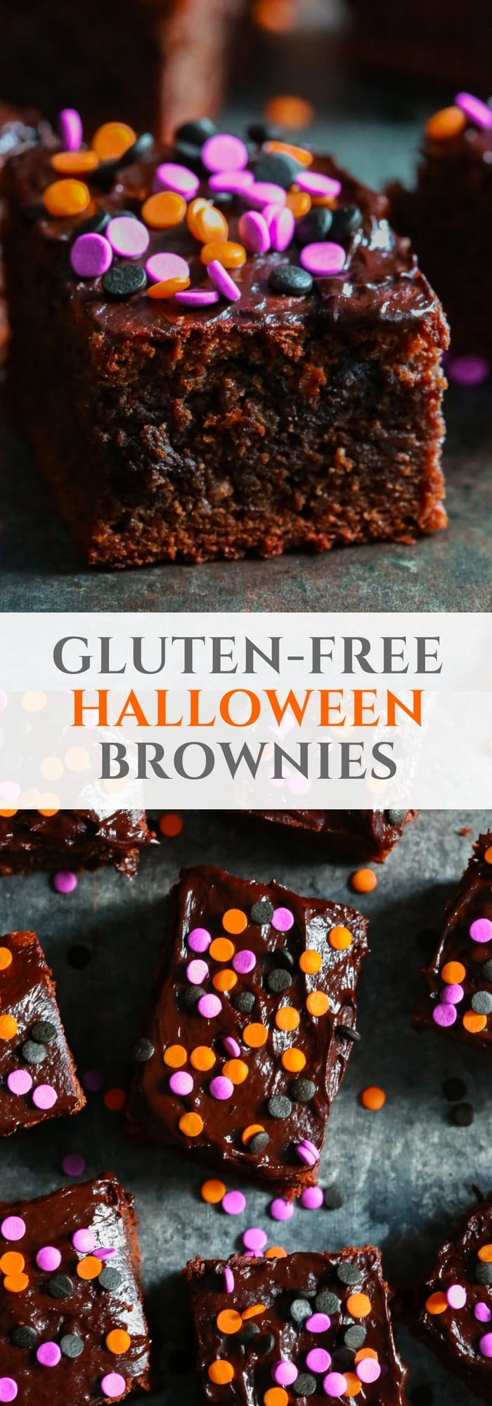 Ready to have a delicious Halloween treat without feeling guilty? I bet you are, so make these Gluten-free Halloween Brownies with your kids using only almond butter, instead of regular flour!