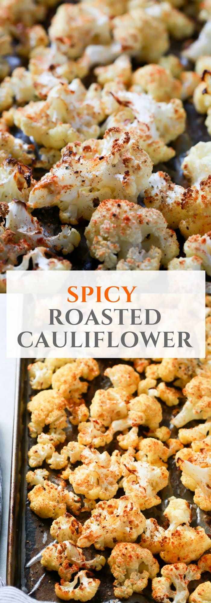 Easy, quick and delicious Spicy Roasted Cauliflower Recipe for you to try today! It's made with also gluten-free, low-carb and paleo friendly. Enjoy!