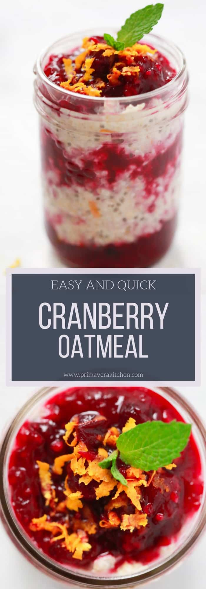 Nothing like delicious oatmeal for breakfast! This Easy Cranberry Oatmeal Recipe is so easy to prepare and it's very delicious.