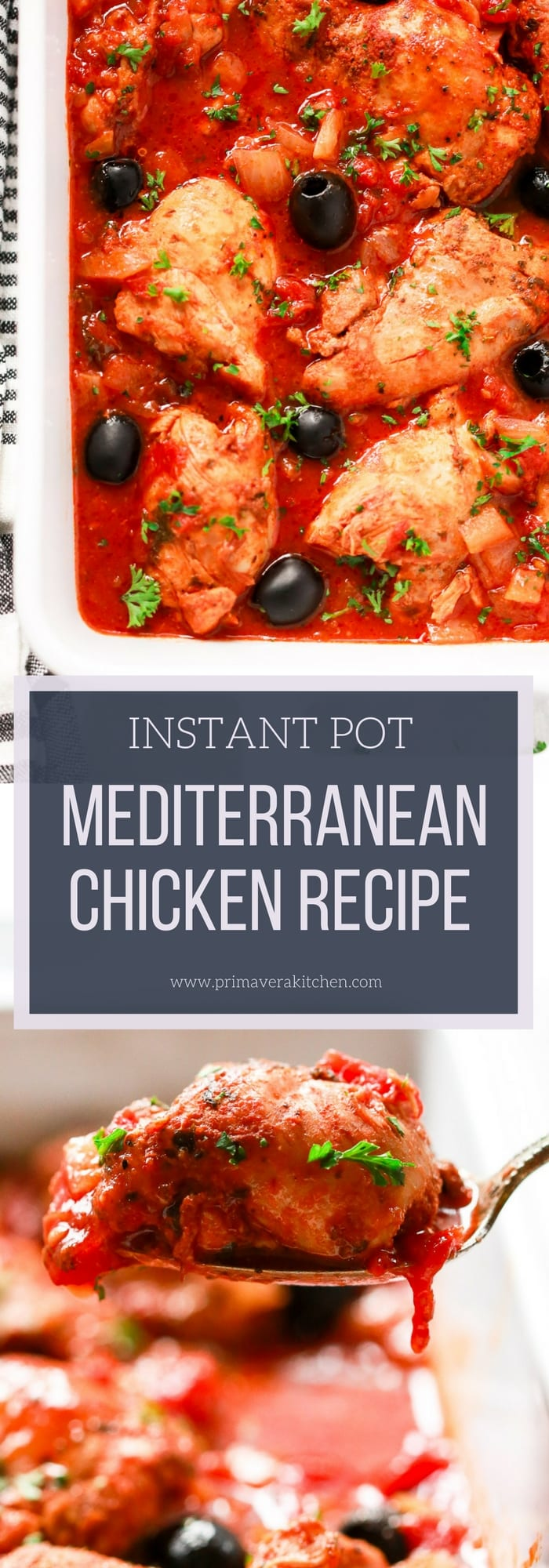 Instant Pot Mediterranean Chicken Recipe - Primavera Kitchen