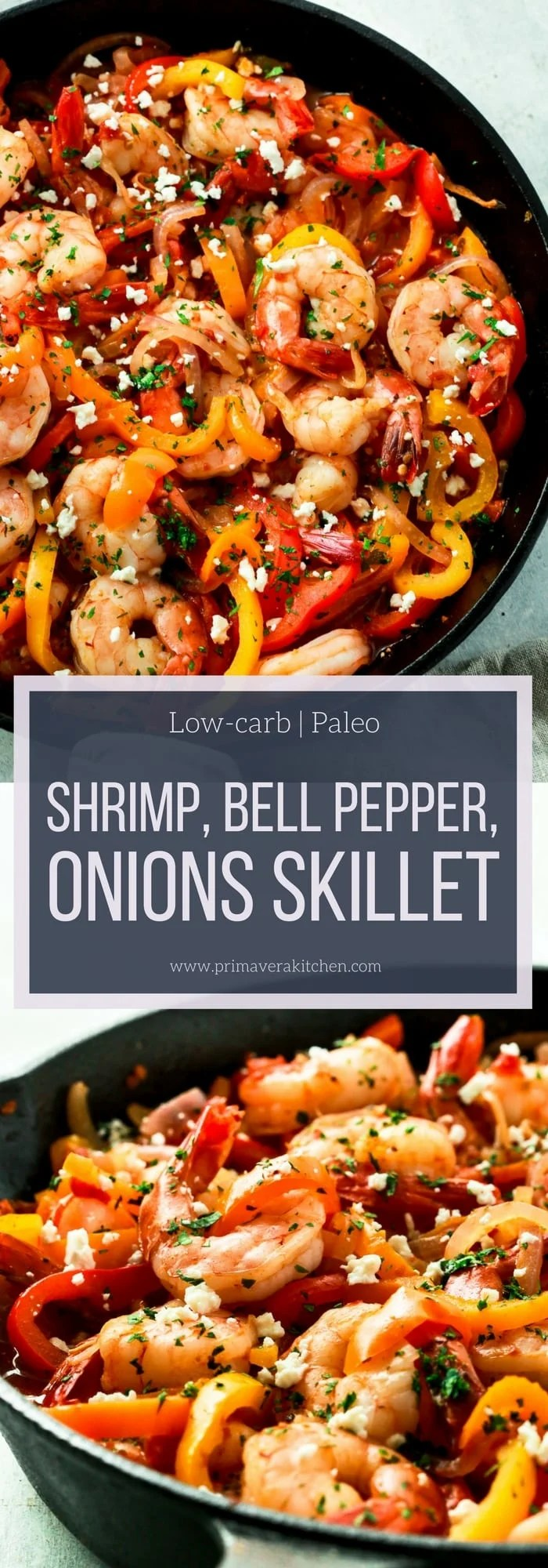 Shrimp, Bell Pepper and Onions Skillet