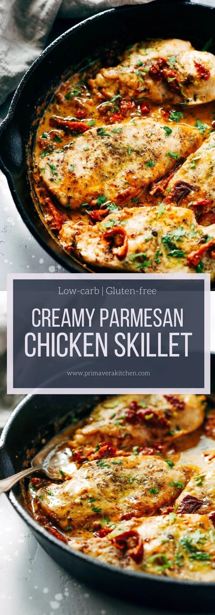 Creamy Parmesan Chicken Skillet Primavera Kitchen Recipe