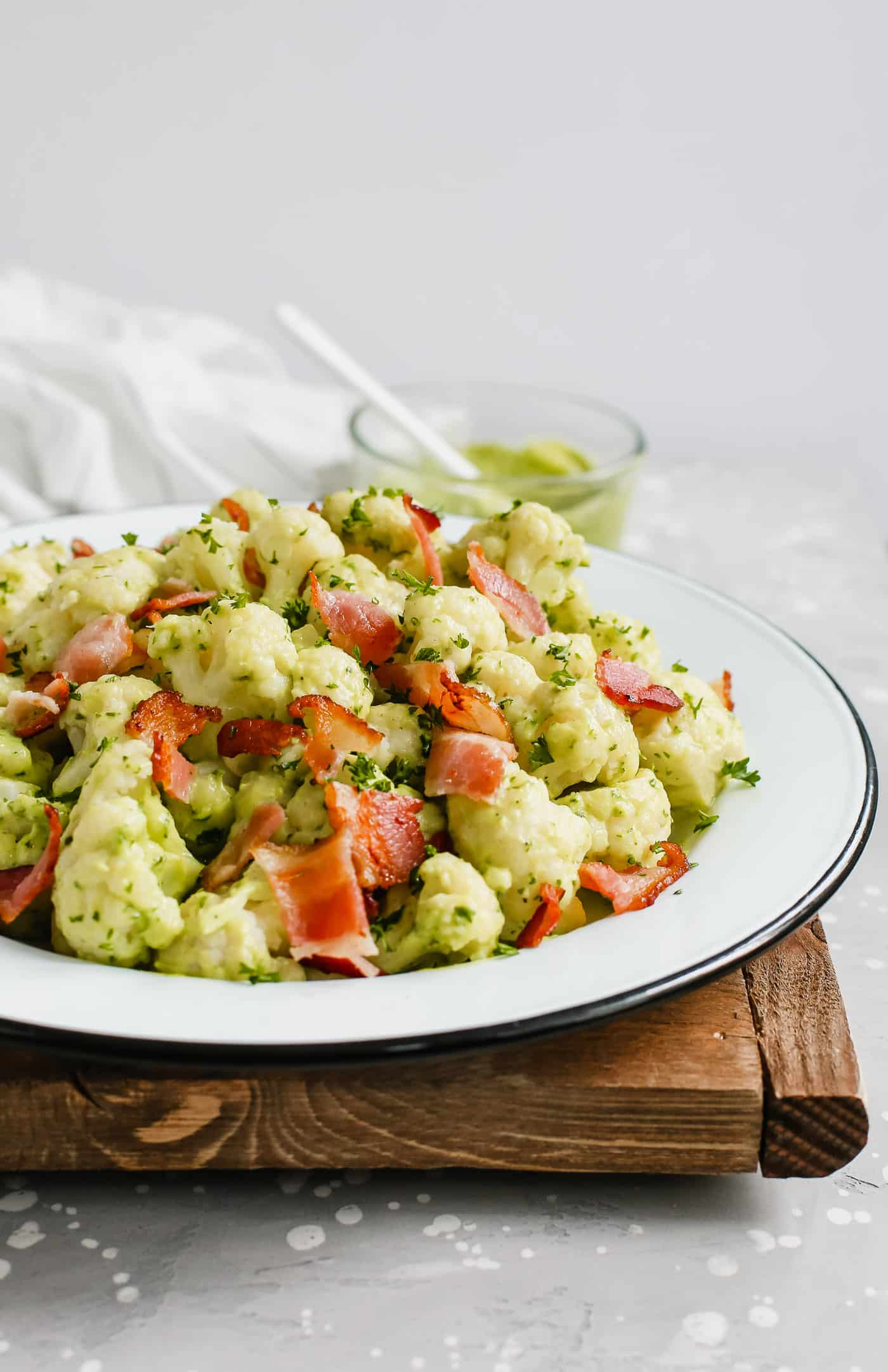 Creamy Avocado Cauliflower Salad Primavera Kitchen