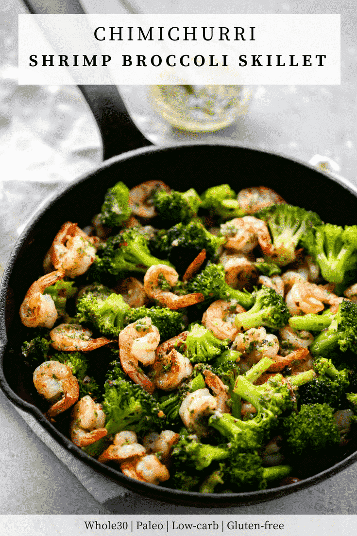 Chimichurri Shrimp Broccoli Skillet - Primavera Kitchen