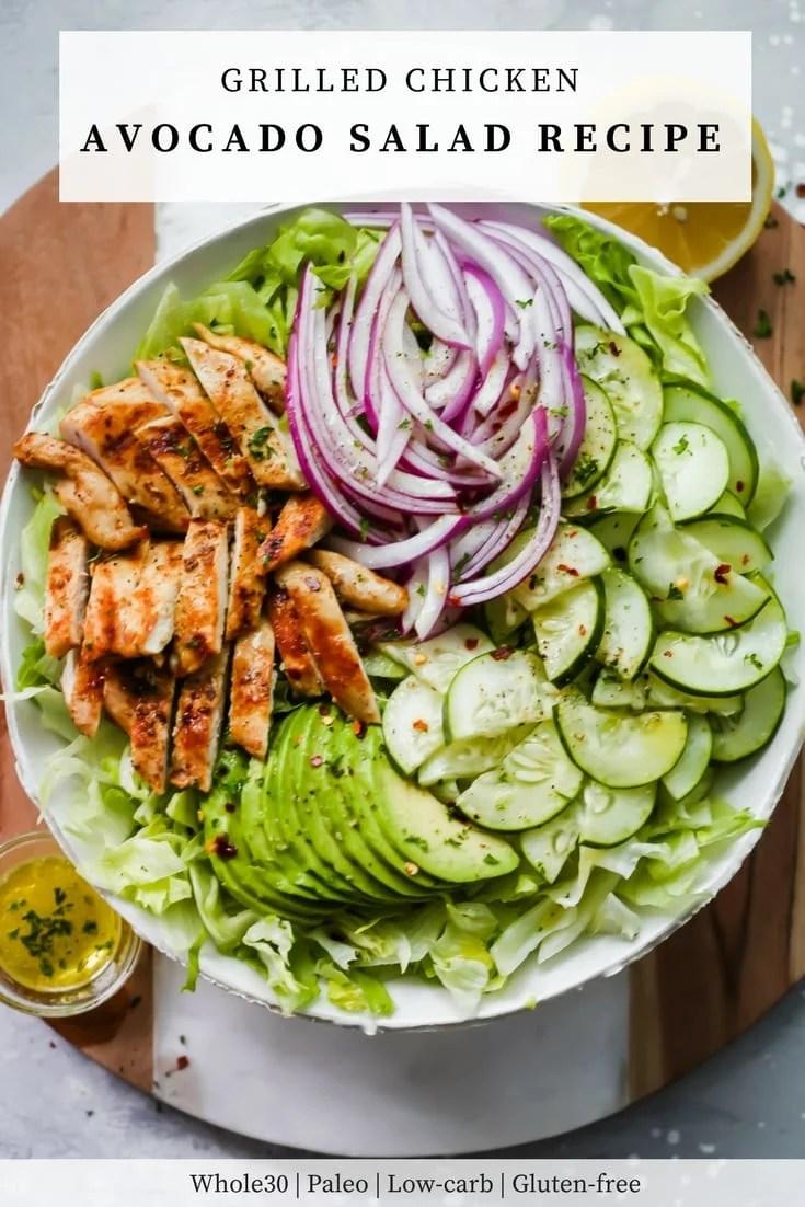 Grilled Chicken Avocado Salad - Primavera Kitchen