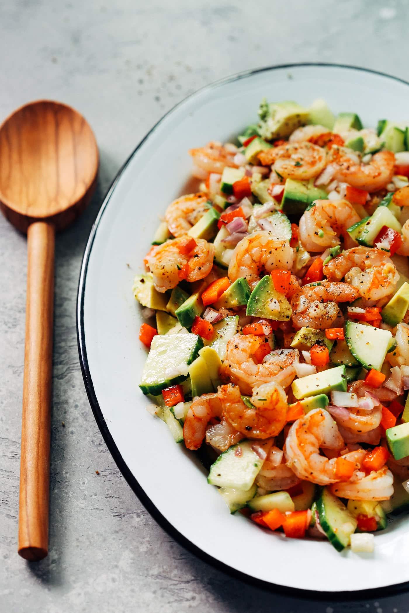 Shrimp Avocado Cucumber Salad - Primavera Kitchen