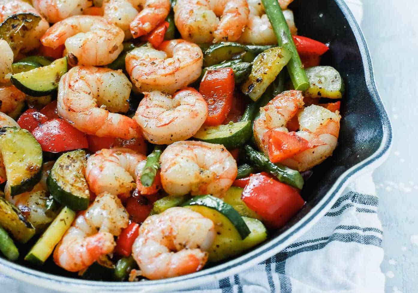 Shrimp Vegetable Skillet recipe