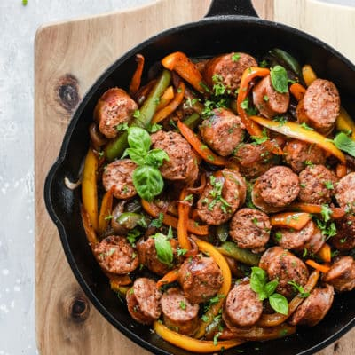 Italian Sausage, Onions and Peppers Skillet.