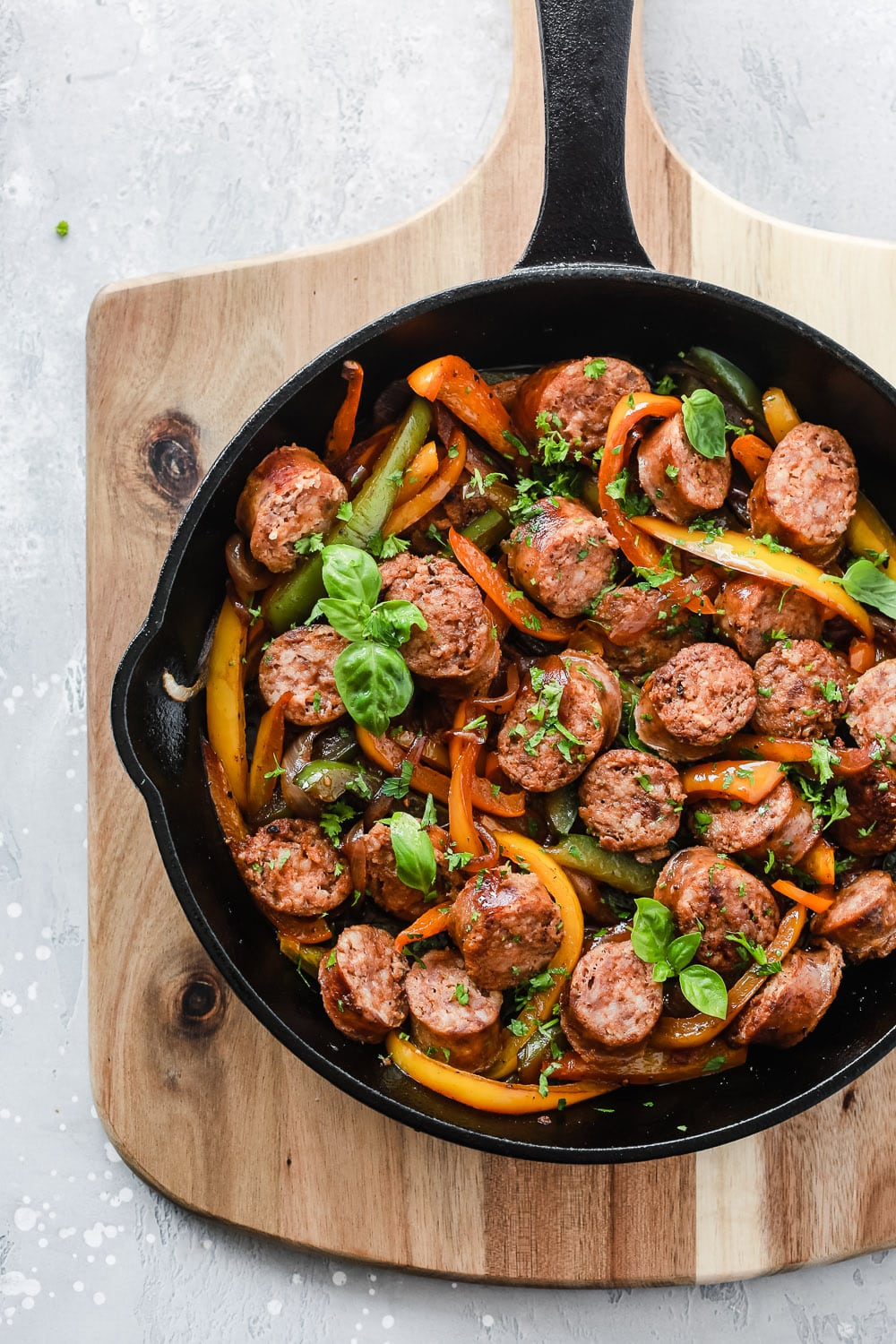 Cast Iron Skillet Sausage and Bell Pepper Recipe