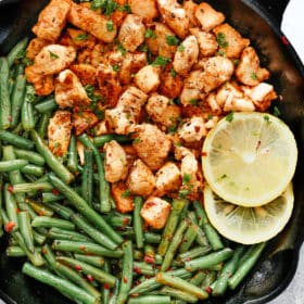 Spicy Green Beans Chicken Skillet.
