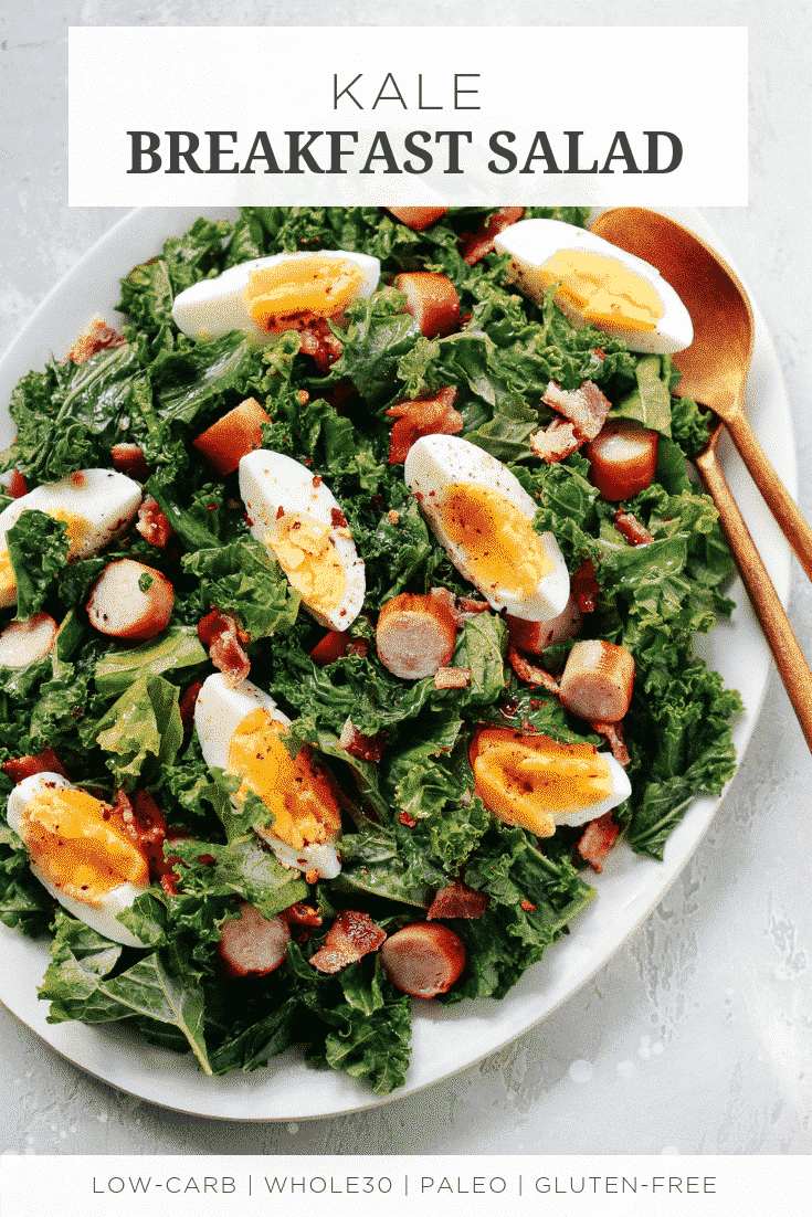 Easy Kale Breakfast Salad