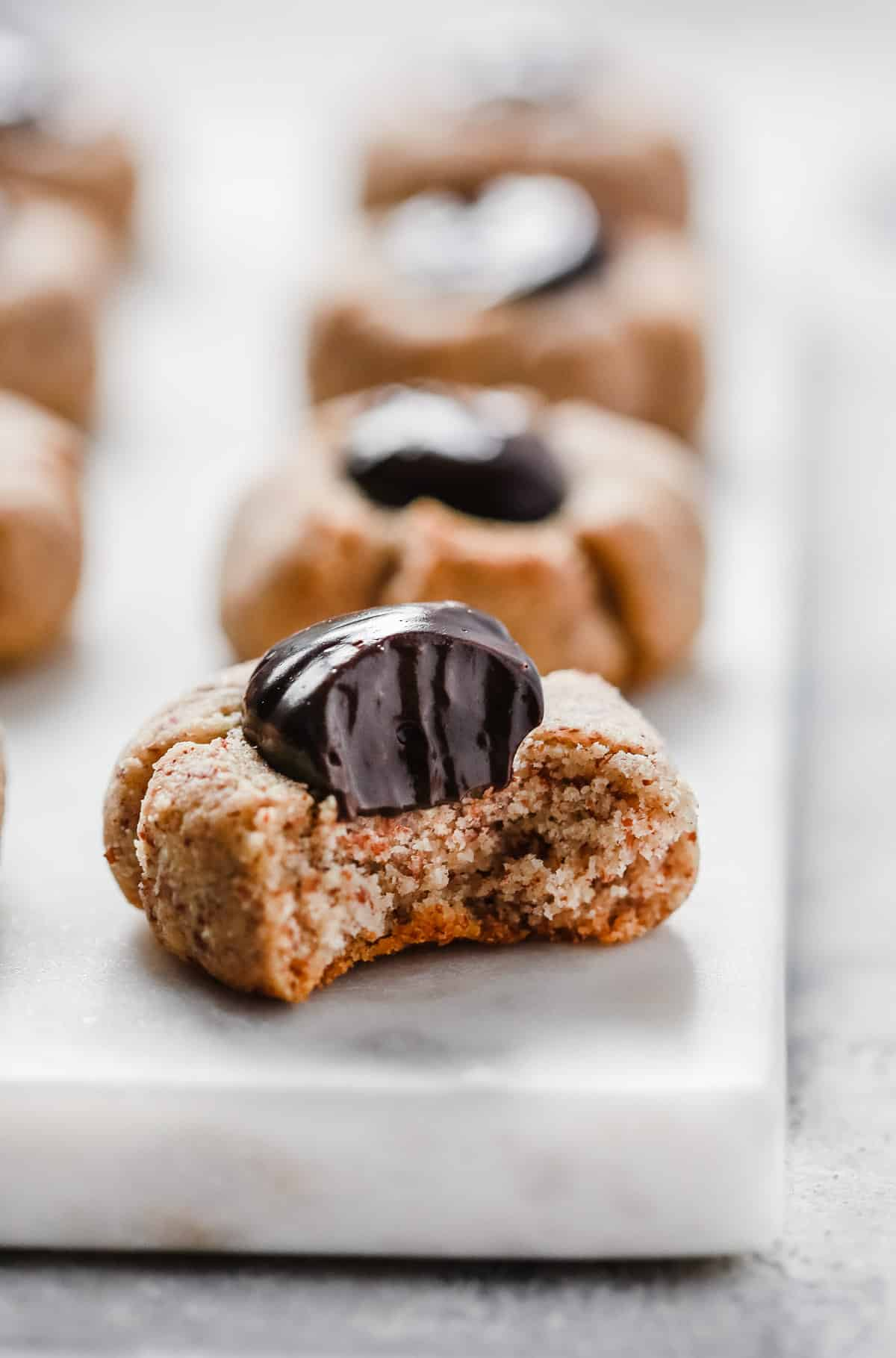 Sugar-free Nutella Thumbprint Cookies