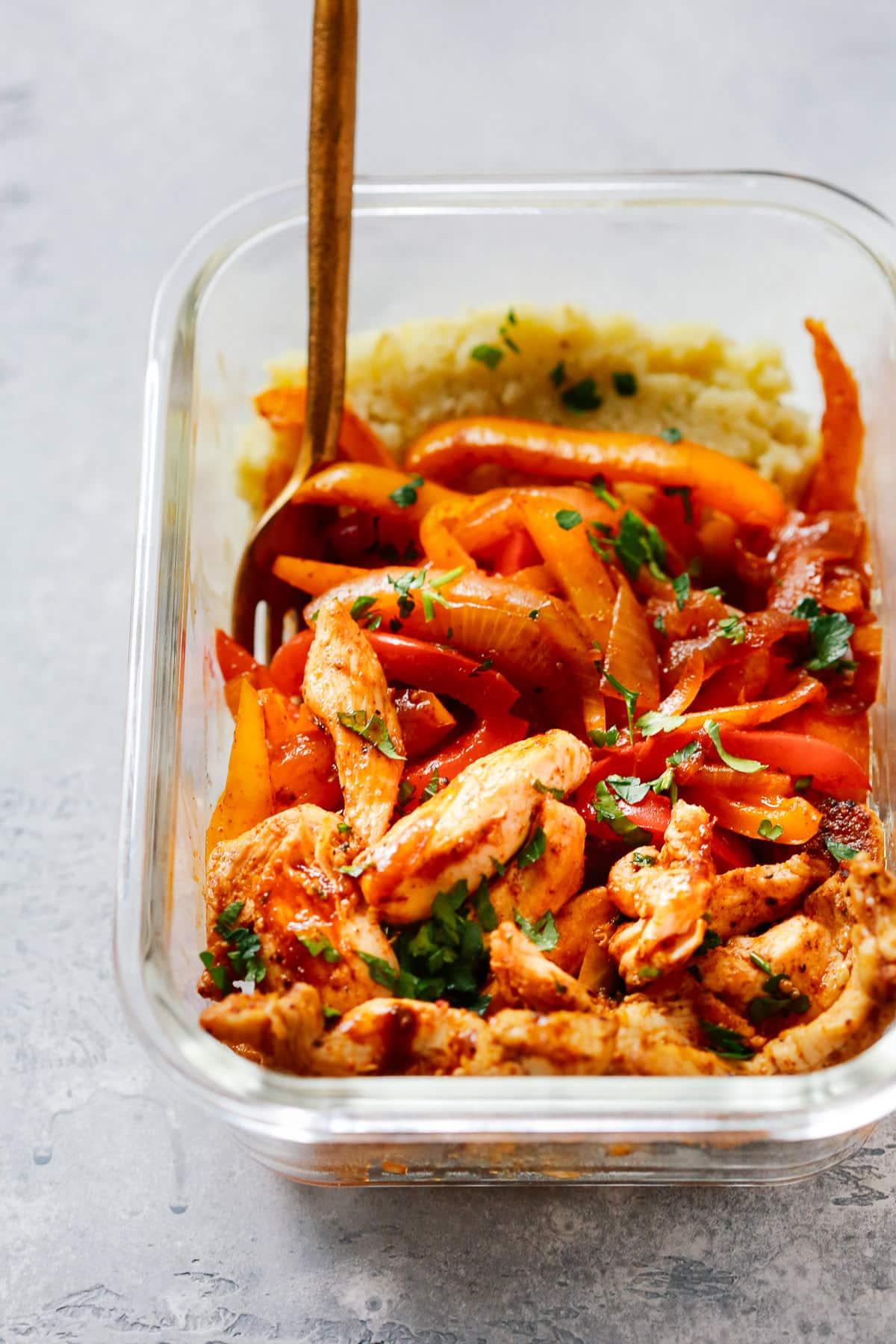 Chicken Fajita Meal-Prep Bowls