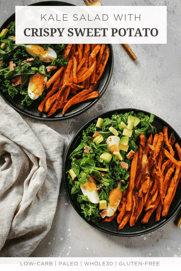 Kale Salad with Crispy Sweet Potato