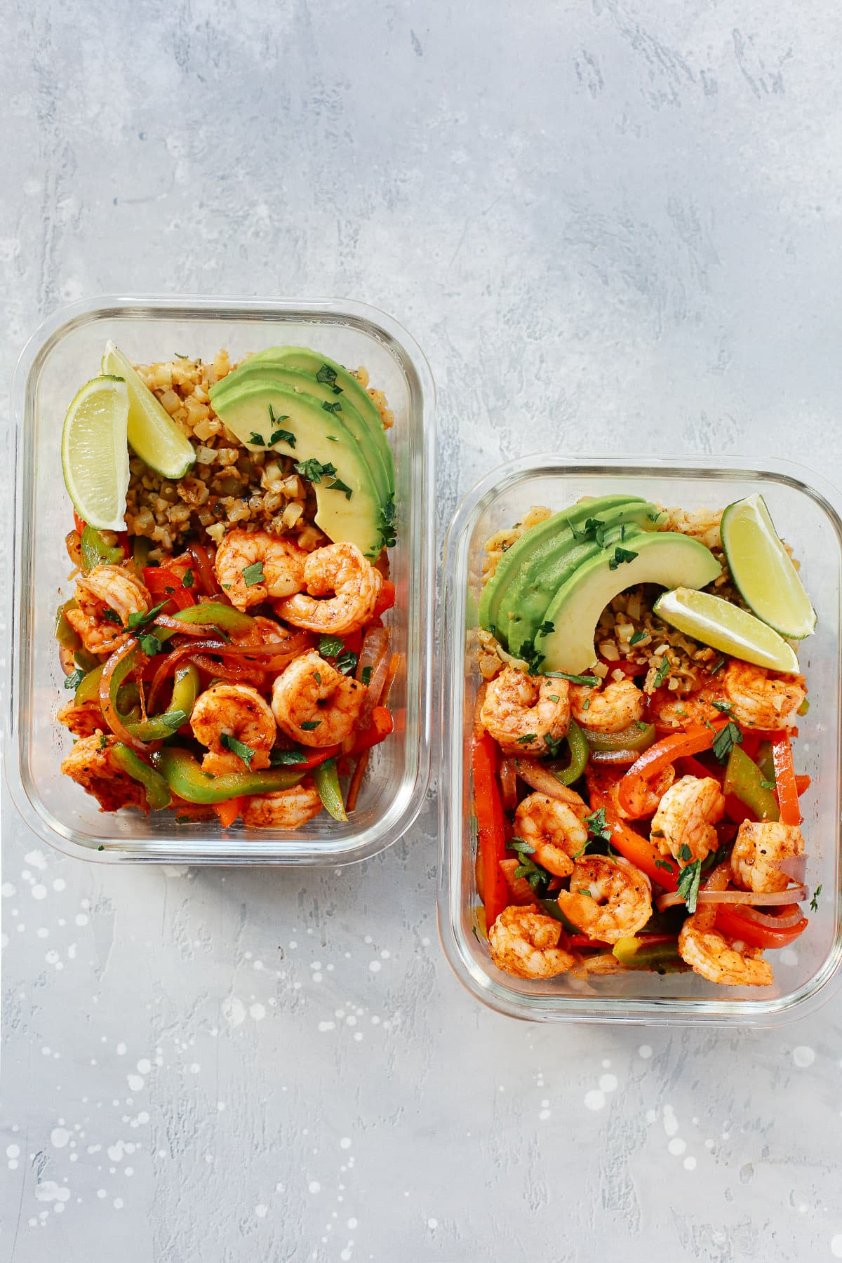 Low-Carb Shrimp Fajita Meal-Prep Bowls