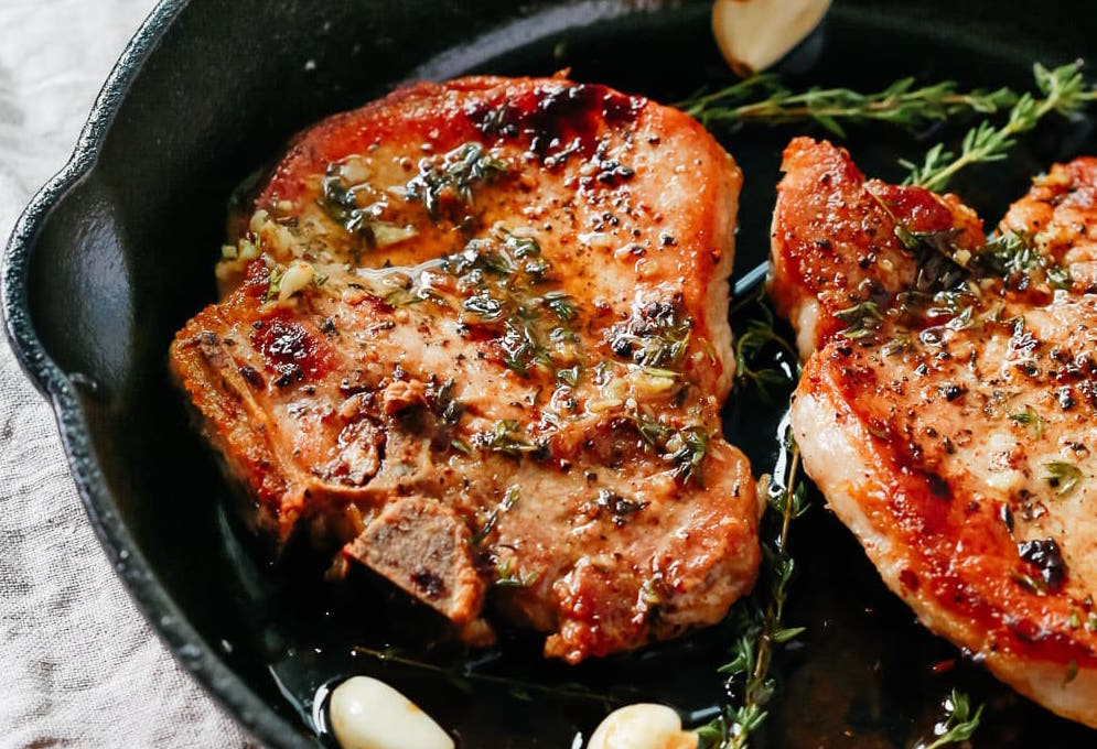 Garlic Butter Baked Pork Chops
