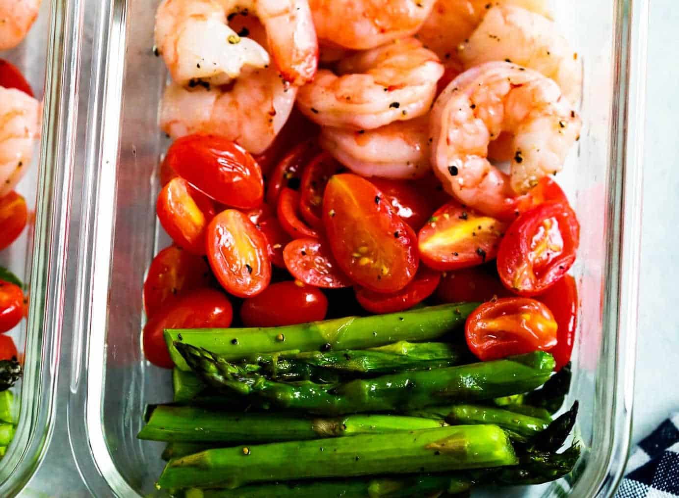 One-Sheet Pan Shrimp with Cherry Tomatoes and Asparagus