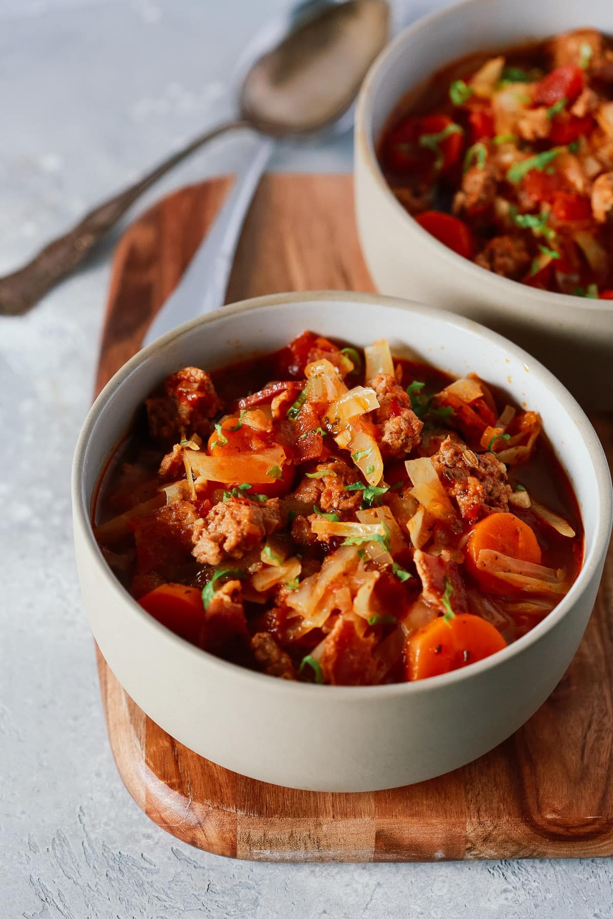 Cabbage and Sausage Stew (Paleo and Gluten-free)