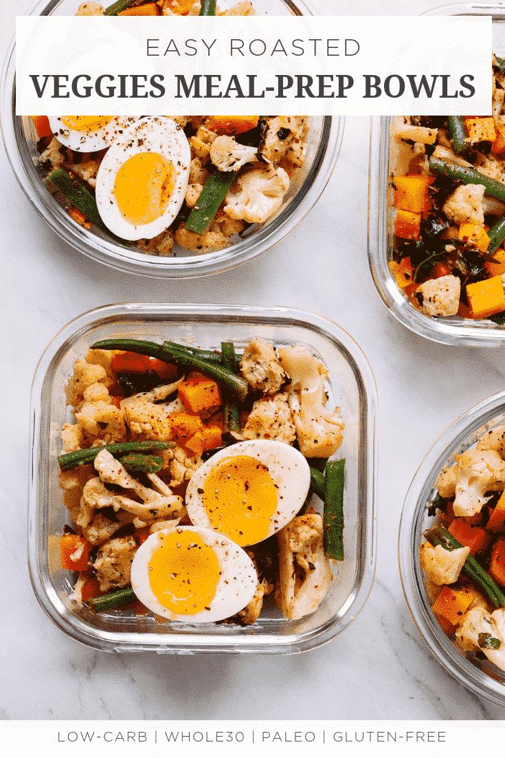 Easy Roasted Veggies Meal-Prep Bowls