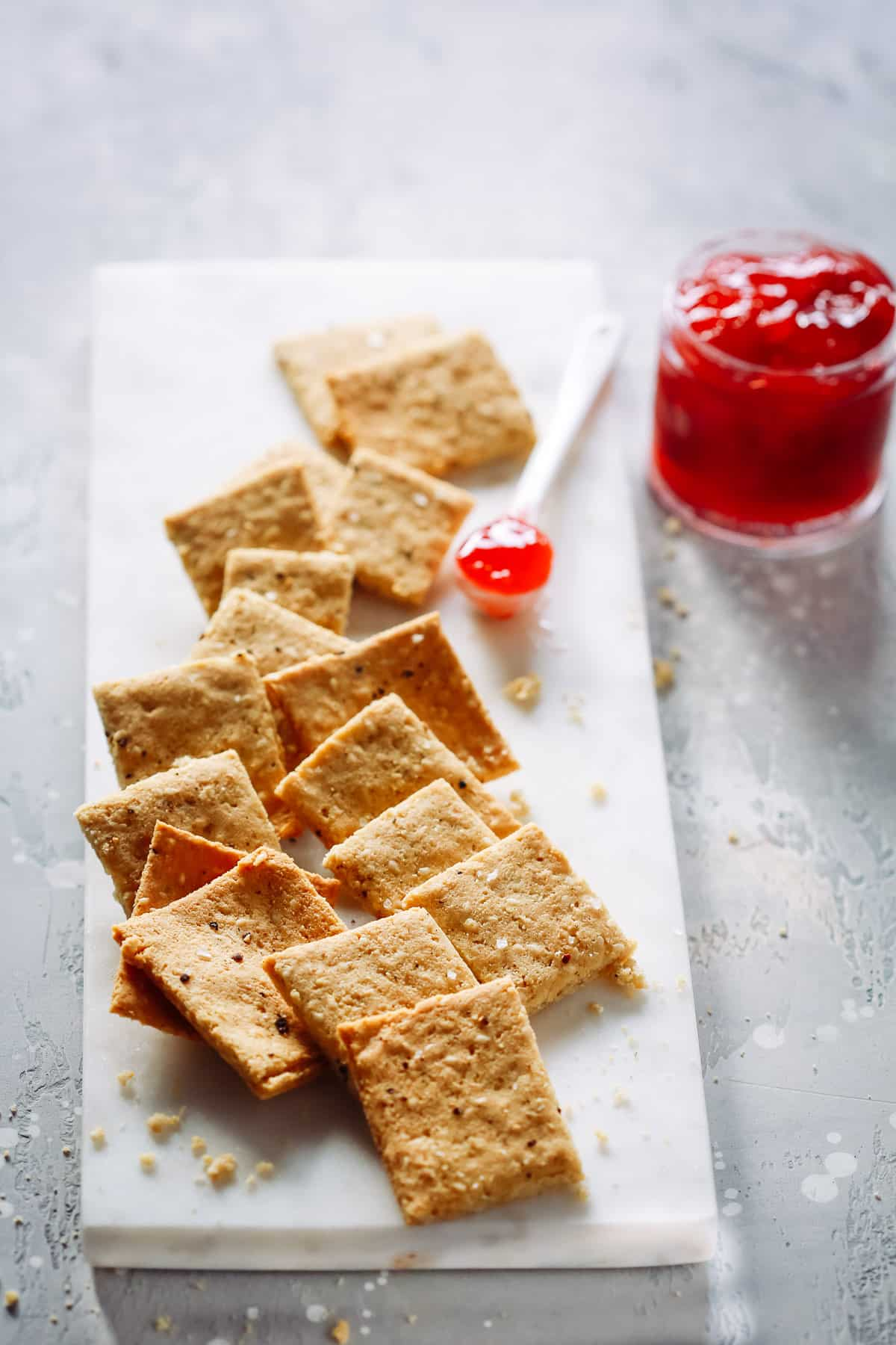 how make diet low calorie crackers