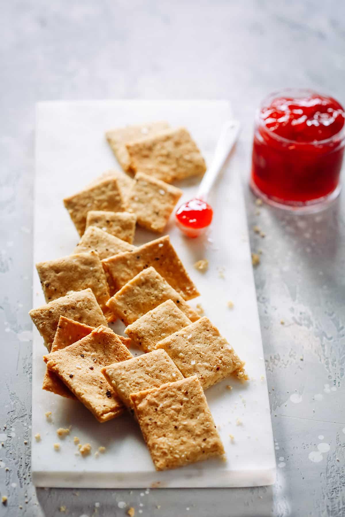 Low-Carb Almond Flour Crackers