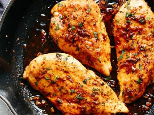 Garlic Butter Baked Chicken Breast Helathy Delicious