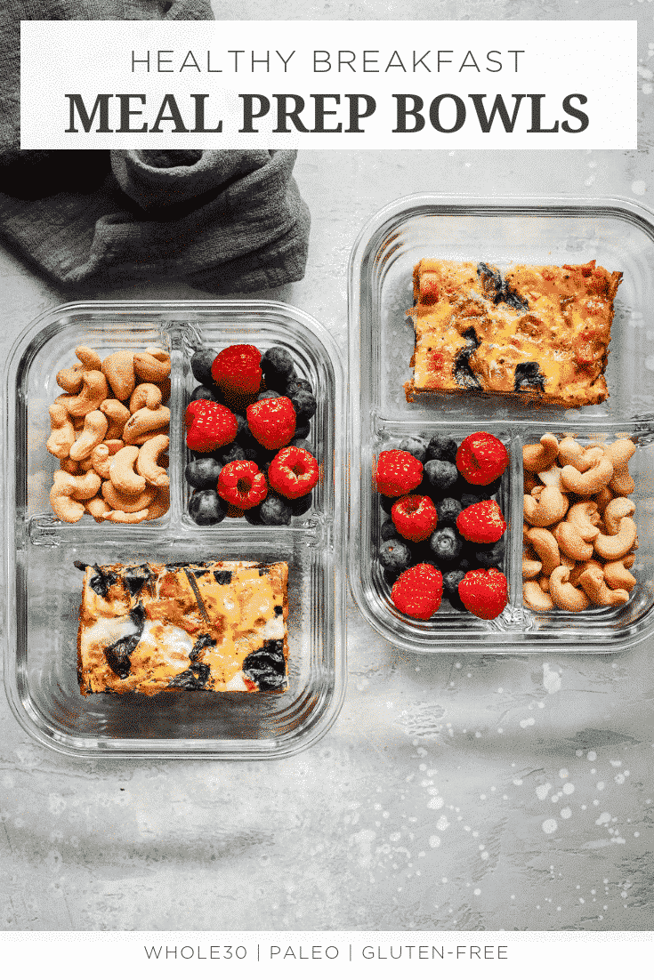 Healthy Breakfast Meal Prep Bowls