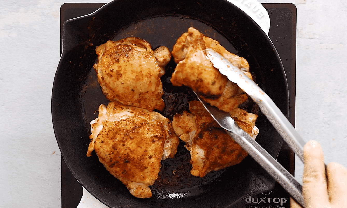 Chicken in the skillet